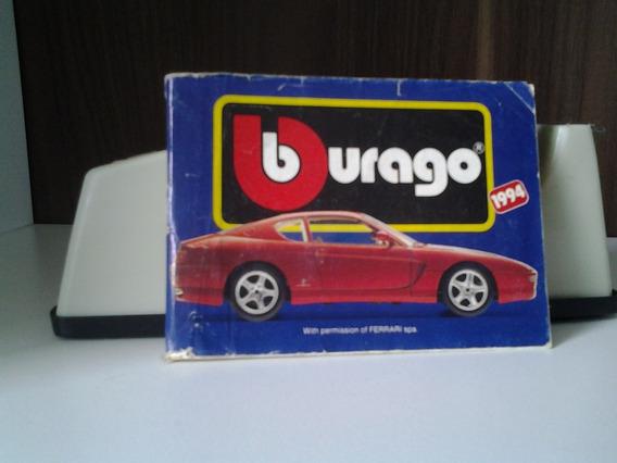 Miniatura De Automóveis Burago - Catálogo 1994
