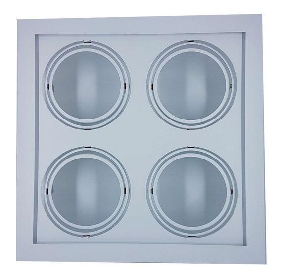 Plafon Spot Embutir P/4 Lâmpadas Ar 70 Branco - Vr 4603/4