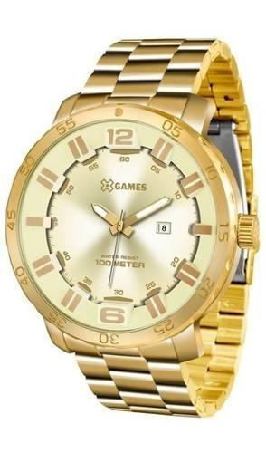 Relógio Masculino Dourado Xgames Xmgs1022 C2kx