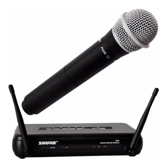 Microfone Sem Fio Shure Svx24br/pg28-j9 / Nf/revenda Oficial