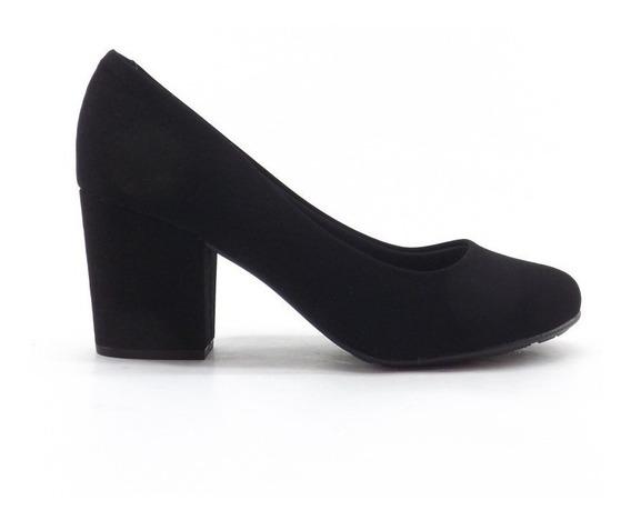 Zapato Stiletto Microfibra Moleca Taco Ancho Sacha 5300.300