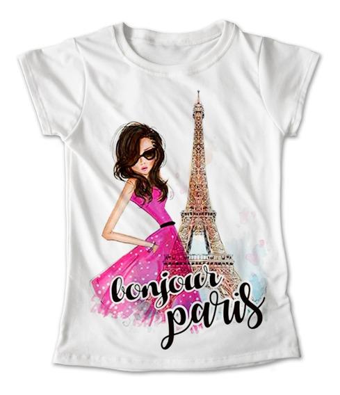 Blusa Chica Colores Playera Estampado Paris Francia #188