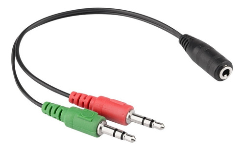 Splitter Audio 3.5mm Plug Microfono Audifono Macho Hembra