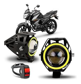 Par Farol Milha Ultra Led Moto Ktm Adventure 640 950 Xenon
