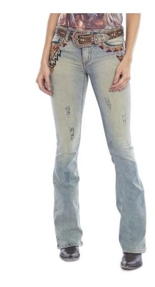 Calça Jeans Country Feminina Bordada Tassa Promoção