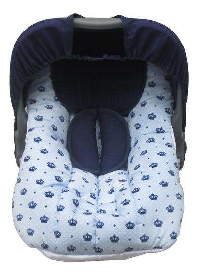 Capa De Bebê Conforto Azul Claro Com Capota