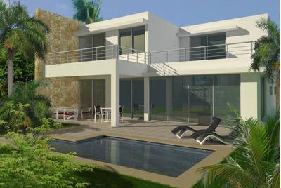 Hermosas Villas Con Piscina En Playa Nueva Romana 520m2