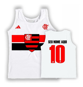 Camiseta Regata Infantil Personalizada Flamengo Lançamento