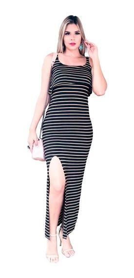 Vestido Longo Roupas Feminina Moda Blogueira Lançamento