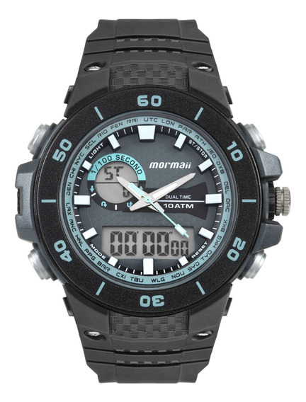Relógio Mormaii Masculino Preto Redondo - Moad9450ab/8a
