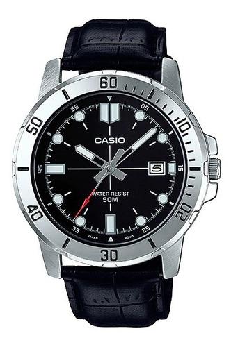Relógio Masculino Casio Pulseira De Couro Original + Nf