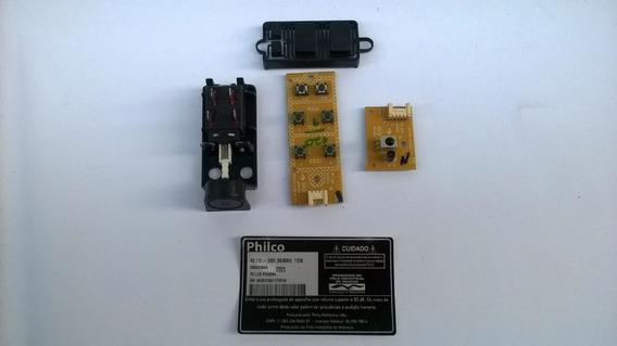 Kit Botão Liga/desliga + Sensor E Teclado Da Tv Philco Lcd