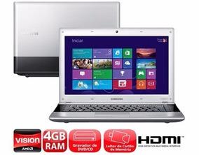 Notebook Samsung Dual Core Amd Hd 320gb Memoria 4gb Leia!!