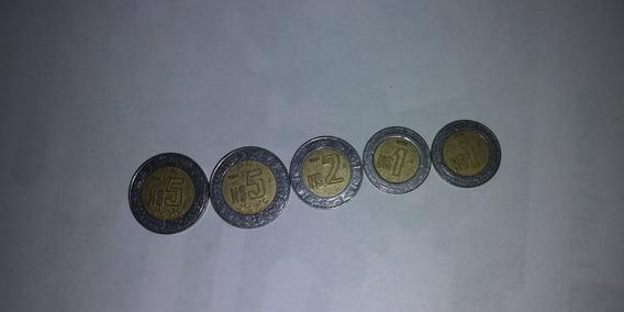 Monedas De 5, 2 Y 1 Nuevos Pesos