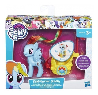 Muñeca My Little Pony Rainbow Carro Real Giratorio B9159
