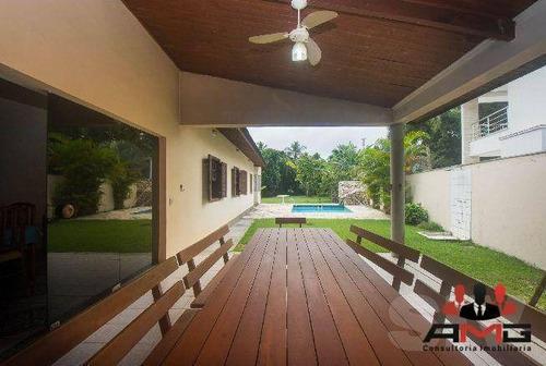 Casa Com 4 Dormitórios À Venda, 244 M² Por R$ 3.400.000,00 - Riviera - Módulo 4 - Bertioga/sp - Ca0651