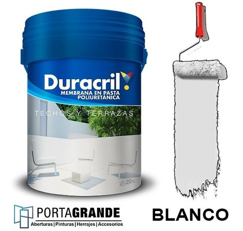 Imagen 1 de 2 de Membrana En Pasta Duracril Poliuretanica X 20 Kg