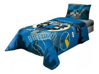 Jogo De Cama Infantil Batman 2 Peças Lepper Lençol + Fronha