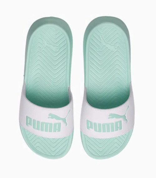 Chinelas Puma Pop Cat Aqua/bla Unisex
