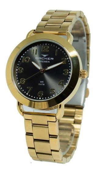 Relógio Feminino Backer Analógico 3626145f - Dourado