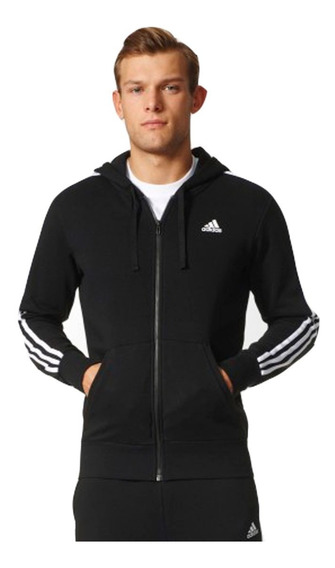 Jaqueta Masculina adidas Essentials 3s Fz Hood S98786