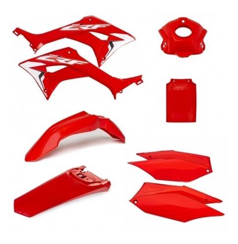Kit Carenagens Crf 250f Vermelho/vermelho Amx