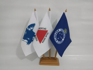 Cruzeiro + Raposa + Minas Gerais Bandeiras De Mesa