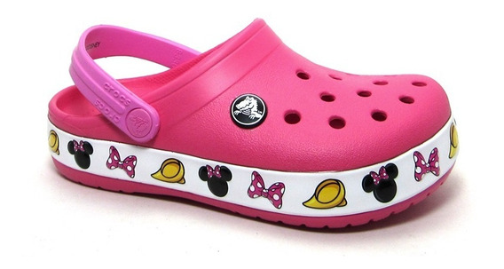 Zuecos Crocs Original Minnie Nena