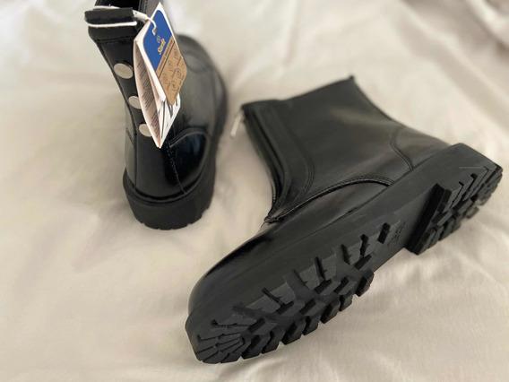 Botas Zara Negras T 37. Nuevas Con Etiqueta.