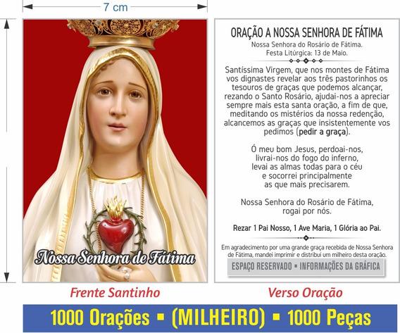 Nossa Senhora De Fátima (1000un) - Frete Gratis Brasil
