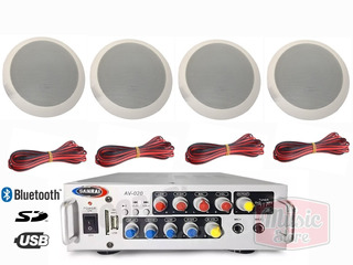 Kit Musica Funcional Audio Local Comercial Set Ambient