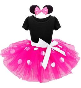 Vestido Minie Bebe Menina Festa 1 E 2 Anos