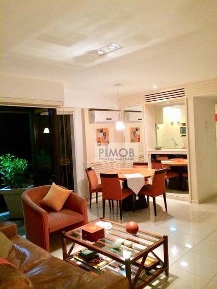 Flat 2 Qtos Na Vieira Souto,decorado Com Vista Mar Lateral - Fl0029