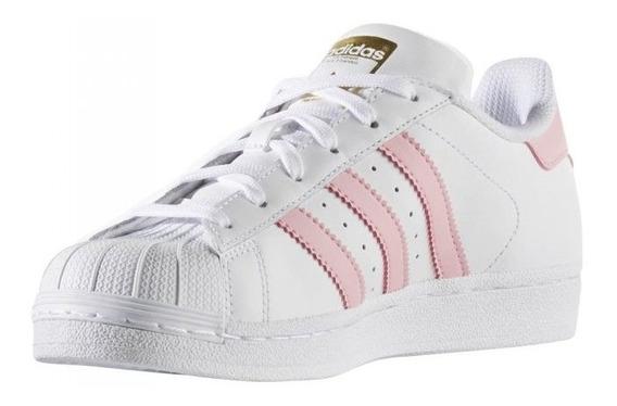 Tenis Adidas Superstar Mujer Originales Rosa Pastel - Tenis ...