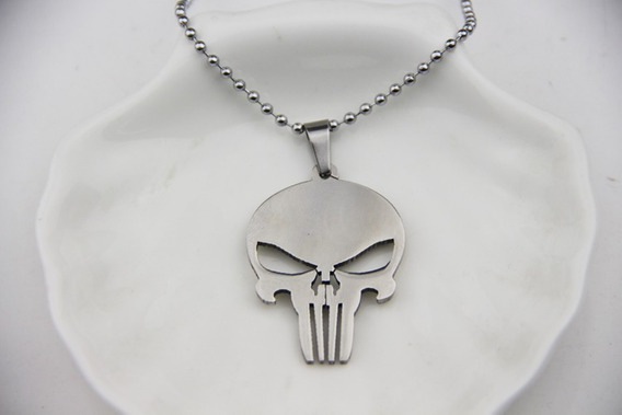 Colar Punisher O Justiceiro Pronta Entrega