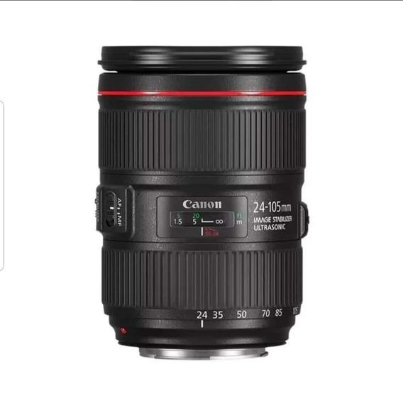 Lente Canon, Modelo 24-105mm; Abertura Mínina E Máxima: F/4