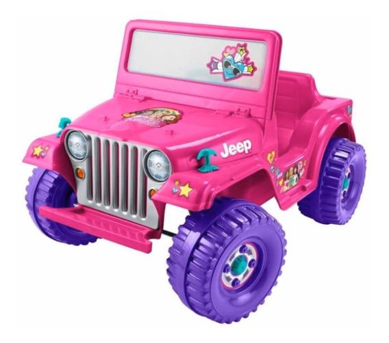 Barbie Power Wheels Jeep Wrangler Eléctrico Fisher Price