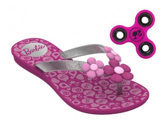 Sandália Rasteira Barbie Spinner Game + Brinde - 21809