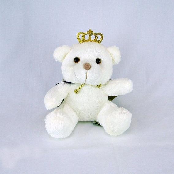 Urso De Pelúcia Principe Off White Mini Marinho Promoção!!!!