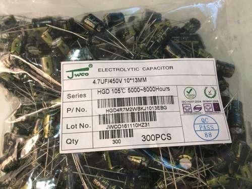 25 - Capacitores Eletrolíticos Capacitor 4.7uf 450v - Novos