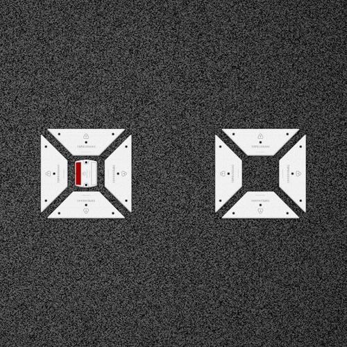 Senda Peatonal Cuadros - Placa + Tacha