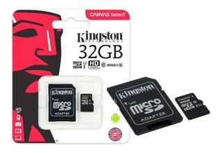 Cartão Micro Sd Kingston 32gb 80mb/s C10 - Pronta Entrega
