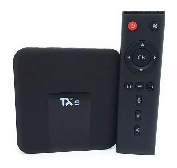Conversor Smart Tv Box Tx9 Com 2gb 16gb Wifi 2.4 Ghz - Nfe