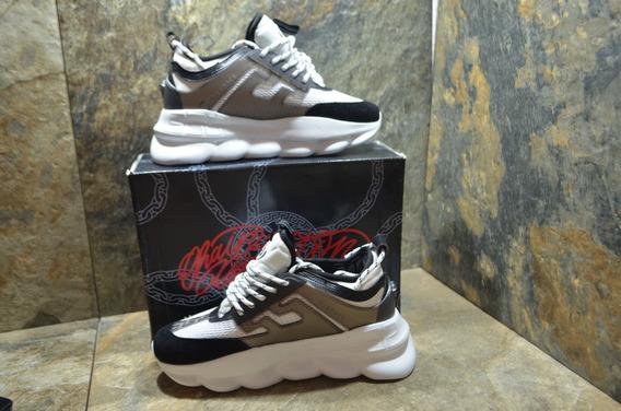 Sneakers Versace White Chain Reaction, Envío Gratis