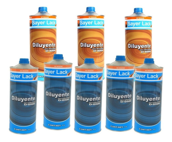 Sayer Lack Diluyente/poliuretano D0500, Diluyente D800 Nitro