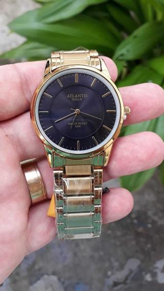 Relógio Masculino Atlantis Dourado