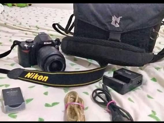 Camera Nikon D60 +carregador+case + Bateria+ Fios+lente