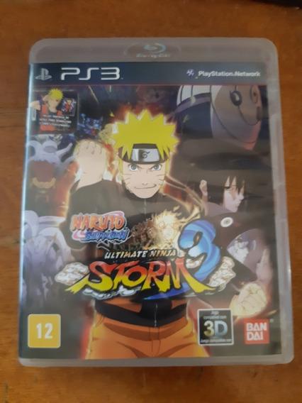 Naruto Ultimate Ninja Storm 3 Ps3 Original Completo Na Caixa