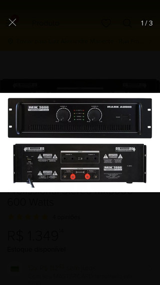 Amplificador Para Som Profissional Markc Audio