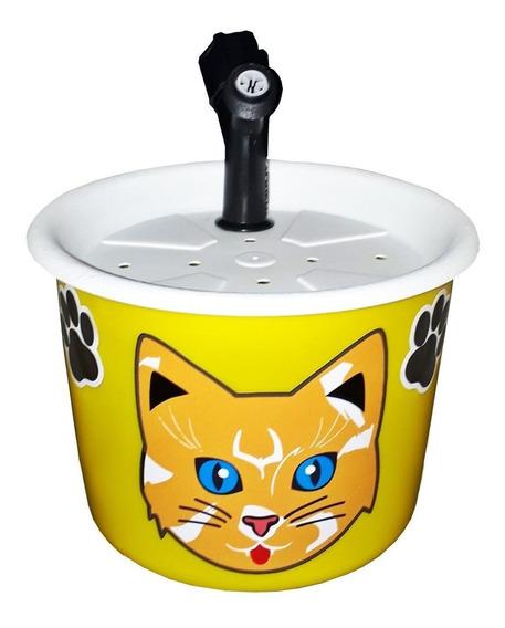 Bebedouro Fonte Para Gatos 1,5l Amarelo